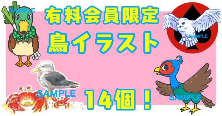 鳥のイラストの有料の表紙